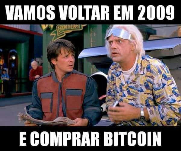 Bitcoin voltando no tempo